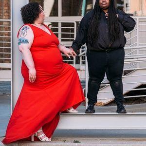 Eloquii Red Maxi Dress